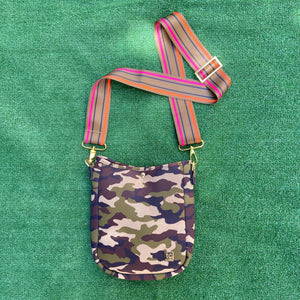 Harlie Neoprene Camo Messenger Bag
