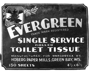 Camp Single Service Rolled Toilet Tissue