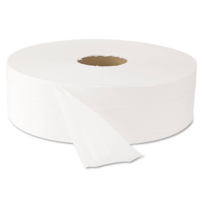 "Windsoft Jumbo Roll Bath Tissue, Septic Safe, 2 Ply, White, 3.5"" X 2000 Ft, 6 Rolls/Carton - WIN203 - TotalRestroom.com"