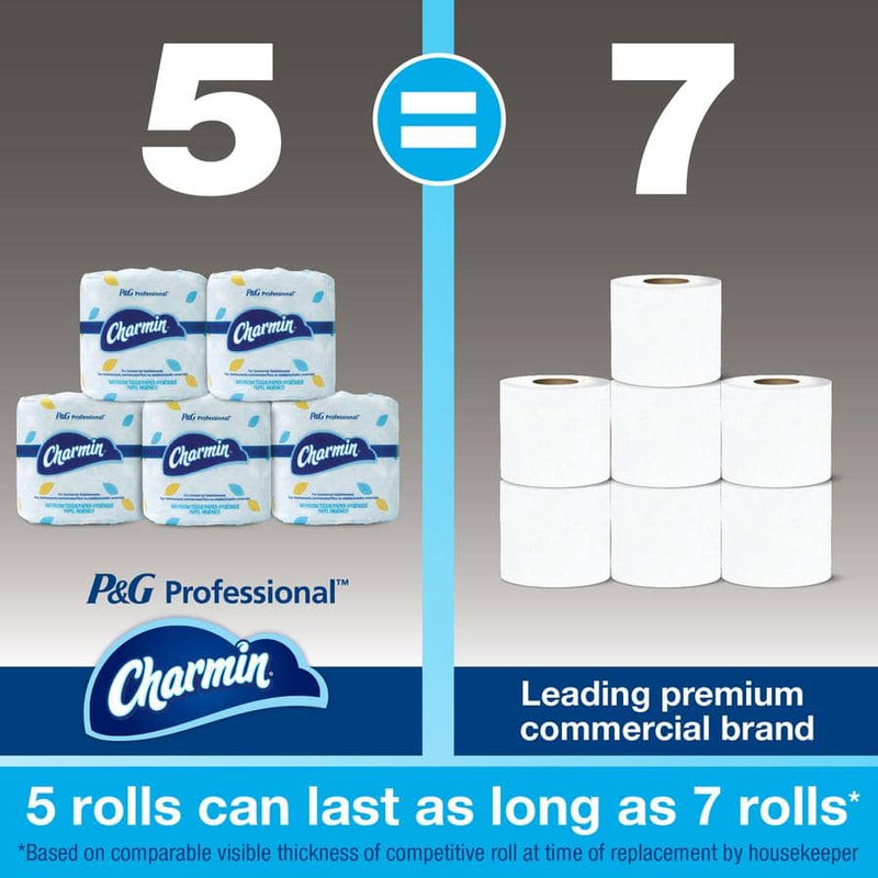 Charmin Commercial Bathroom Tissue, Septic Safe, 2-Ply, White, 450 Sheets/Roll, 75/Carton - PGC71693
