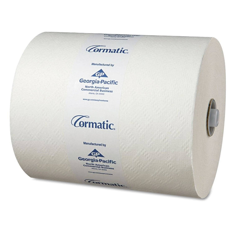 Georgia Pacific Hardwound Roll Towels, 8 1/4 X 700Ft, White, 6 Rolls/Carton - GPC2930P - TotalRestroom.com