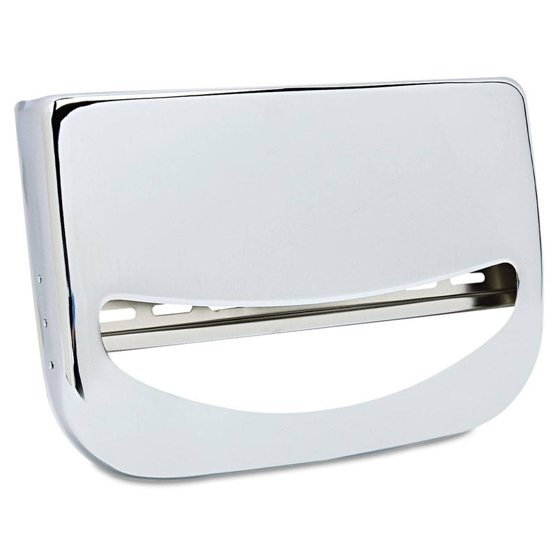 Boardwalk Toilet Seat Cover Dispenser, 16 X 3 X 11 1/2, Chrome - BWKKD200 - TotalRestroom.com