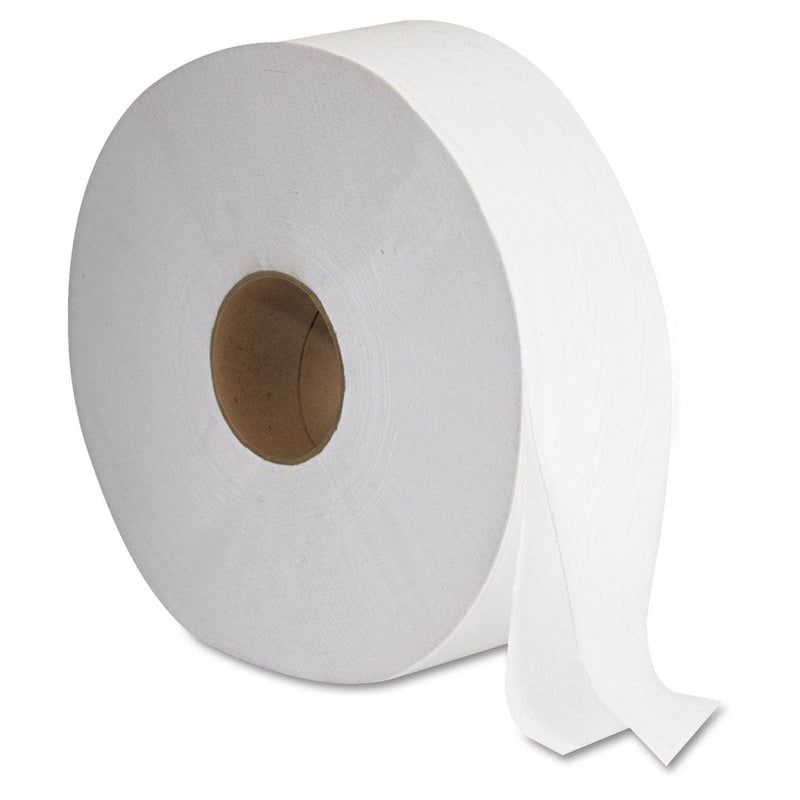 "GEN Jrt Jumbo Bath Tissue, Septic Safe, 2-Ply, White, 12"" Diameter, 6/Carton - GEN1513 - TotalRestroom.com"