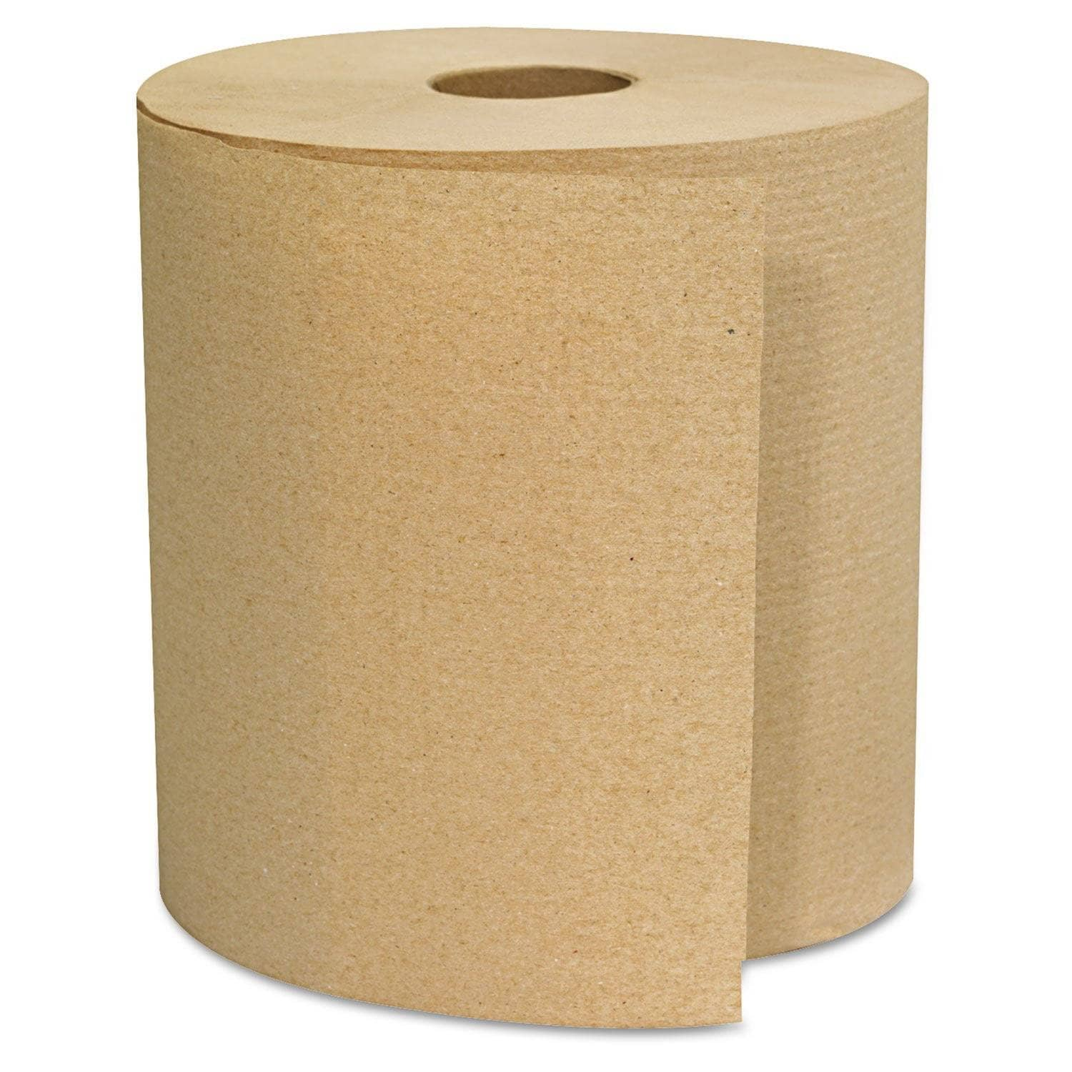GEN Hardwound Towels, Brown, 1-Ply, Brown, 800Ft, 6 Rolls/Carton - GEN1825 - TotalRestroom.com