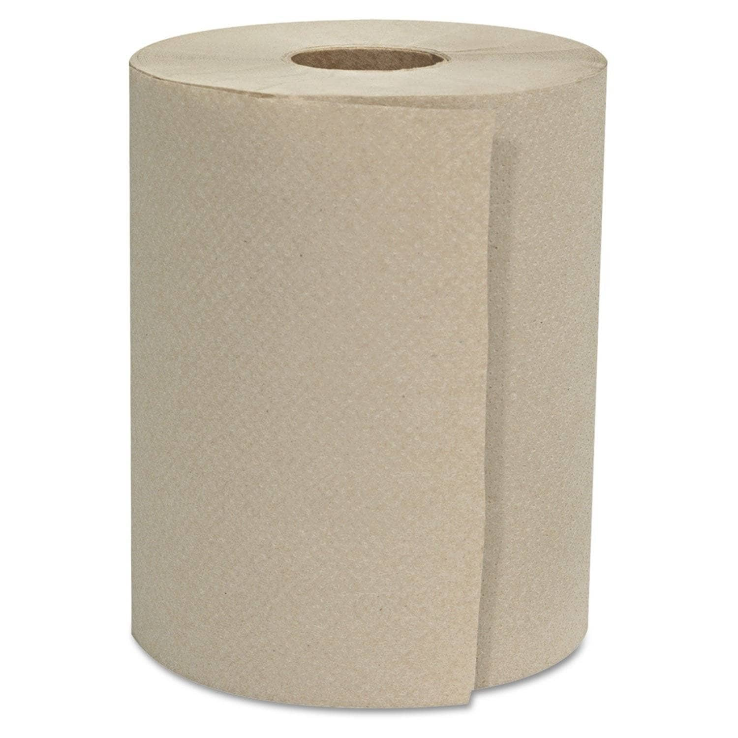 "GEN Hardwound Roll Towels, 1-Ply, Natural, 8"" X 800 Ft, 6 Rolls/Carton - GEN8X800HWTKF - TotalRestroom.com"