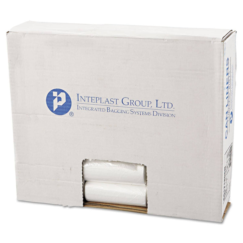 "Interplast High-Density Commercial Can Liners, 4 Gal, 6 Microns, 17"" X 18"", Clear, 2,000/Carton - IBSEC171806N - TotalRestroom.com"