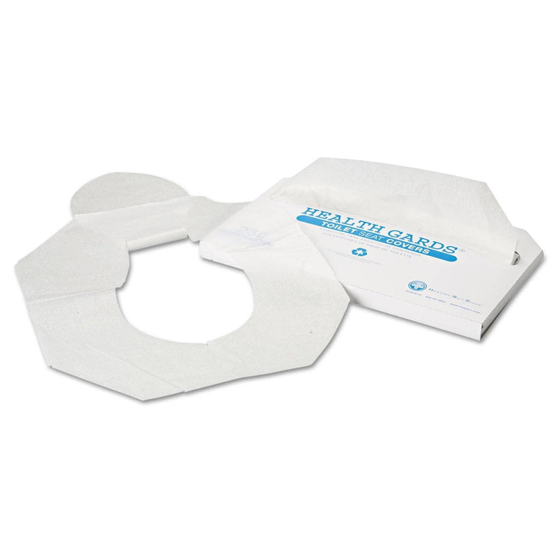 Hospeco Health Gards Toilet Seat Covers, Half-Fold, White, 250/Pack, 10 Boxes/Carton - HOSHG2500 - TotalRestroom.com