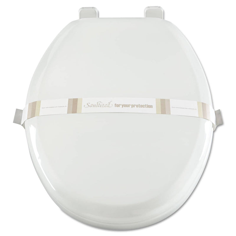 Royal Paper Toilet Seat Bands, Brown/White, Paper, 2000/Carton - RPPRHM3 - TotalRestroom.com