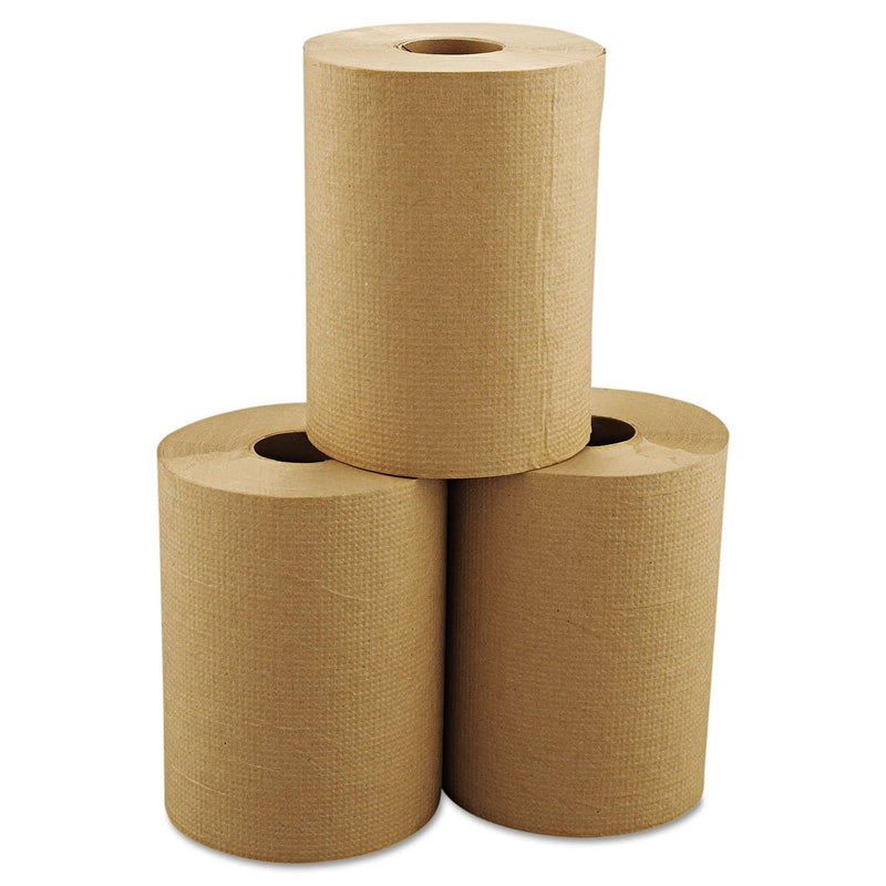 "Morcon Hardwound Roll Towels, 8"" X 350 Ft, Brown, 12 Rolls/Carton - MORR12350 - TotalRestroom.com"