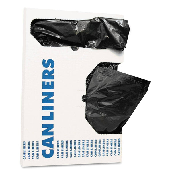 "AccuFit Linear Low Density Can Liners With Accufit Sizing, 16 Gal, 1 Mil, 24"" X 32"", Black, 250/Carton - HERH4832TKX01"