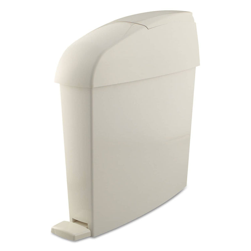 Rubbermaid Sanitary Bin, Rectangular, Plastic, 3 Gal, White - RCP750243 - TotalRestroom.com