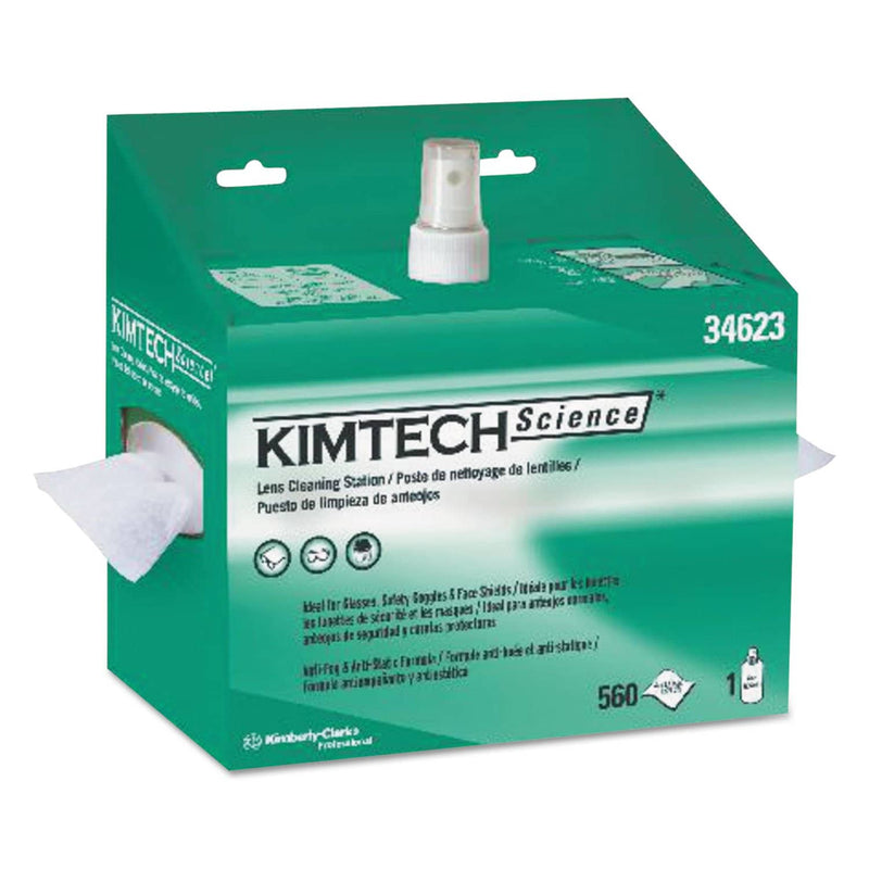 Kimtech Lens Cleaning Station, 8Oz Spray, 4 2/5 X 8 1/2, 560/Box, 4 Boxes/Carton - KCC34623 - TotalRestroom.com