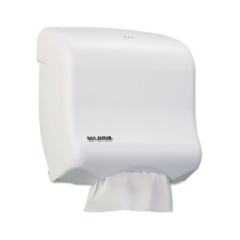 San Jamar Ultrafold Towel Dispenser For C-Fold/Multifold Towels, 11.5 X 6X 11.5, White - SJMT1750WH - TotalRestroom.com