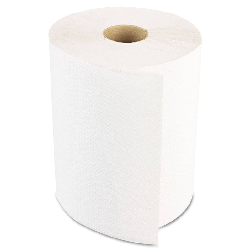 Boardwalk Hardwound Paper Towels, Nonperforated 1-Ply White, 350 Ft, 12 Rolls/Carton - BWK6250 - TotalRestroom.com