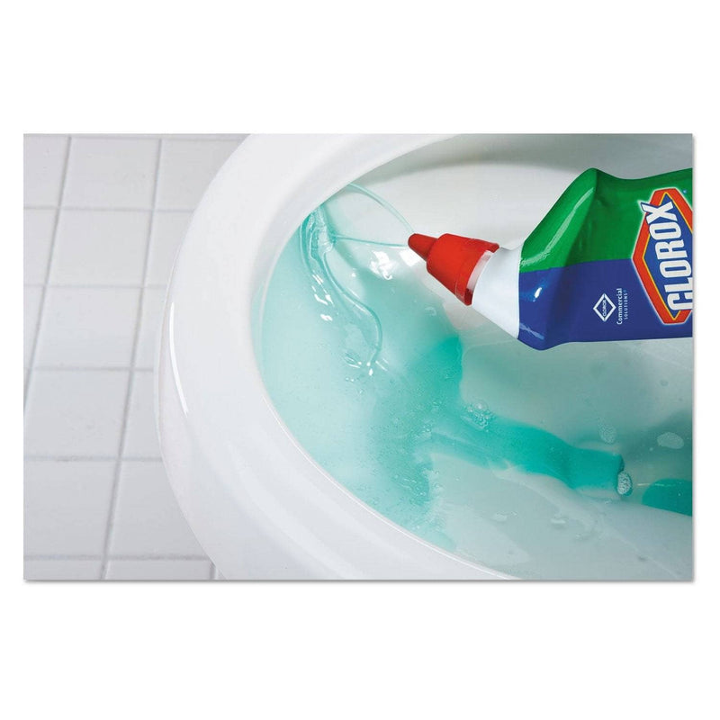 Clorox Toilet Bowl Cleaner With Bleach, Fresh Scent, 24Oz Bottle, 12/Carton - CLO00031CT - TotalRestroom.com