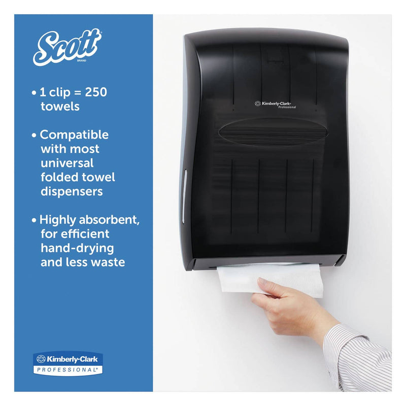 Scott Essential 100% Recycled Fiber Multi-Fold Towels ,9 1/5 X 9 2/5, 250/Pk, 16 Pk/Ct - KCC01804 - TotalRestroom.com