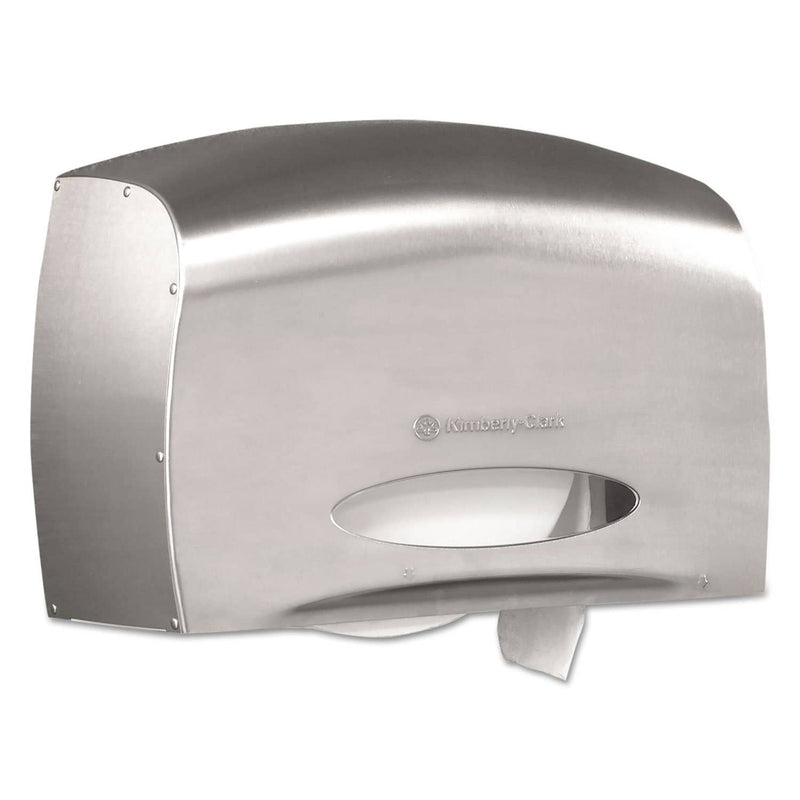 Scott Pro Coreless Jumbo Roll Tissue Dispenser, Ez Load, 6X9.8X14.3, Stainless Steel - KCC09601 - TotalRestroom.com