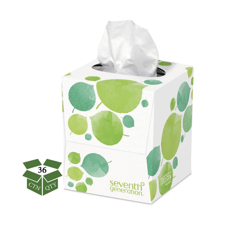Seventh Generation 100% Recycled Facial Tissue, 2-Ply, 85 Sheets/Box, 36 Boxes/Carton - SEV13719CT - TotalRestroom.com