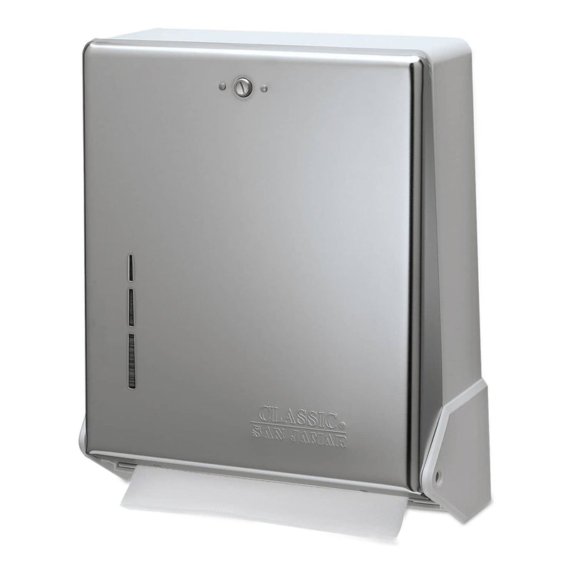 San Jamar True Fold C-Fold/Multifold Paper Towel Dispenser, Chrome, 11 5/8 X 5 X 14 1/2 - SJMT1905XC - TotalRestroom.com