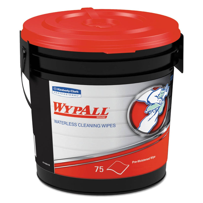 WypAll Waterless Hand Wipes, Cloth, 9 X 12, 75/Bucket, 6 Buckets/Carton - KCC91371CT - TotalRestroom.com