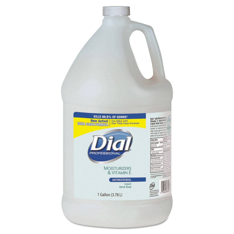 Dial Antimicrobial Soap With Moisturizers, 1Gal Bottle, 4/Carton - DIA84022 - TotalRestroom.com
