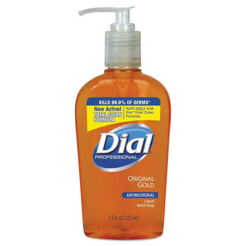 Dial Gold Antimicrobial Hand Soap, Floral Fragrance, 7.5 Oz Pump Bottle, 12/Carton - DIA84014CT - TotalRestroom.com