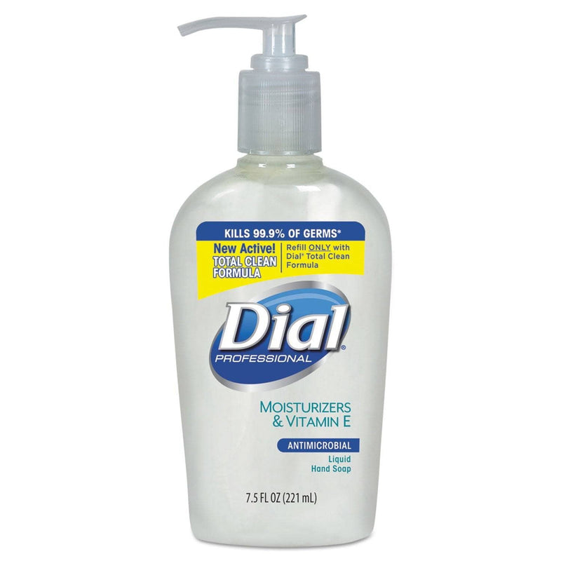 Dial Antimicrobial Soap With Moisturizers, 7.5Oz Decor Pump, 12/Carton - DIA84024 - TotalRestroom.com