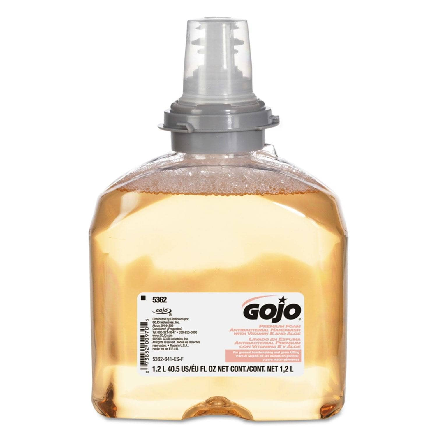 Gojo Premium Foam Antibacterial Hand Wash, Fresh Fruit Scent, 1200Ml, 2/Carton - GOJ536202 - TotalRestroom.com