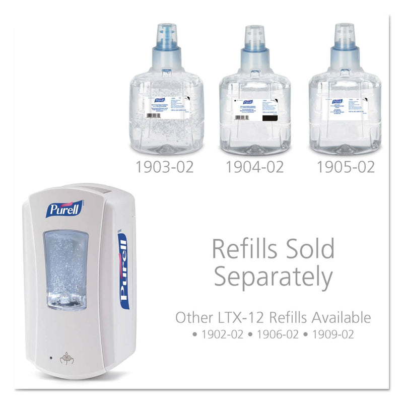 "Purell LTX-12 Touch-Free Foam Hand Sanitizer Dispenser, 1200 Ml, 5.75"" X 4"" X 10.5"", White - GOJ192004 - TotalRestroom.com"