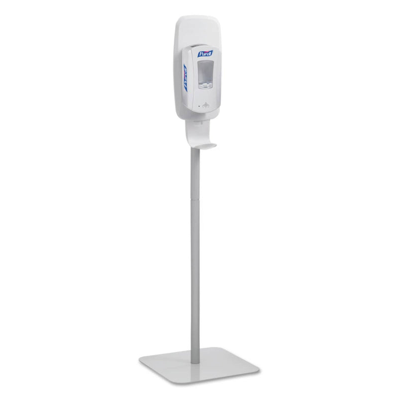 Purell Ltx Or Tfx Touch-Free Dispenser Floor Stand, Lt Gray, 23 3/4 X 16 3/5 X 5 29/100 - GOJ2424DS - TotalRestroom.com