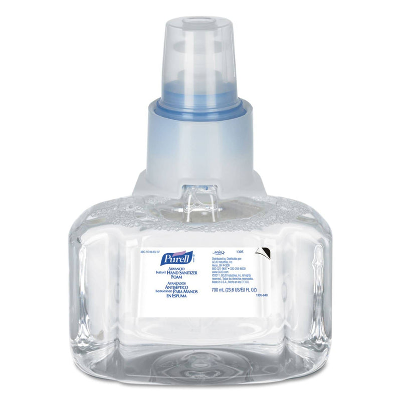 Purell Advanced Hand Sanitizer Foam, Ltx-7, 700 Ml Refill, 3/Carton - GOJ130503CT - TotalRestroom.com
