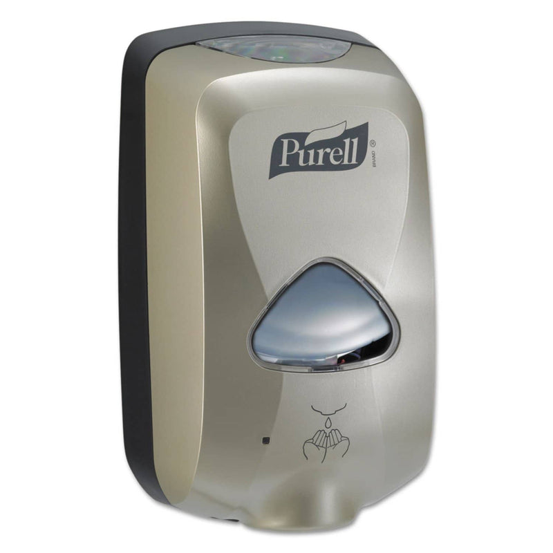 "Purell TFX Touch Free Foam Hand Sanitizer Dispenser, 1200 Ml, 6.5"" X 4.5"" X 10.5"", Nickel - GOJ278012 - TotalRestroom.com"