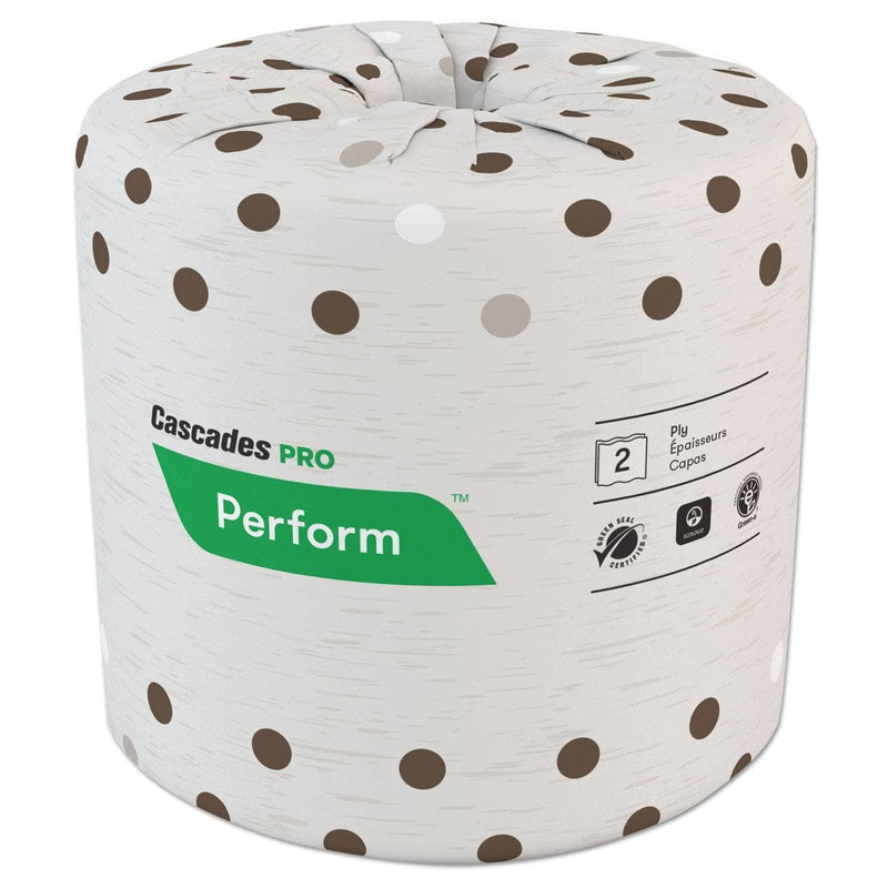 Cascades Select Standard Bath Tissue, 2-Ply, White, 4.25 X 4, 400/Roll, 80/Carton - CSDB400 - TotalRestroom.com
