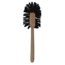 "Rubbermaid Commercial-Grade Toilet Bowl Brush, 17"" Long, Plastic Handle, Brown - RCP6320 - TotalRestroom.com"