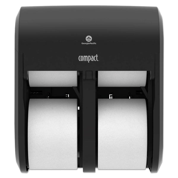 Georgia Pacific Compact Quad Vertical 4-Roll Coreless Dispenser, 11.75 X 6.9 X 13.25, Black - GPC56744A