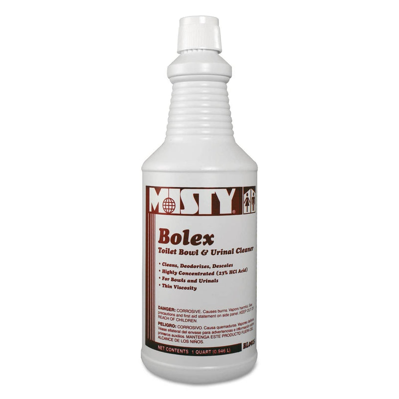 Misty Bolex 23 Percent Hydrochloric Acid Bowl Cleaner, Wintergreen, 32Oz, 12/Carton - AMR1038799 - TotalRestroom.com