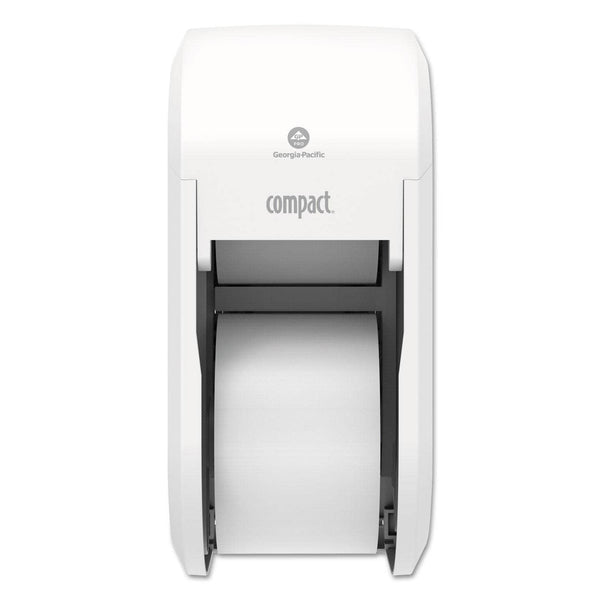 Georgia Pacific Compact Vertical 2-Roll Coreless Tissue Dispenser, 14.06 X 6.69 X 8.19, White - GPC56767A