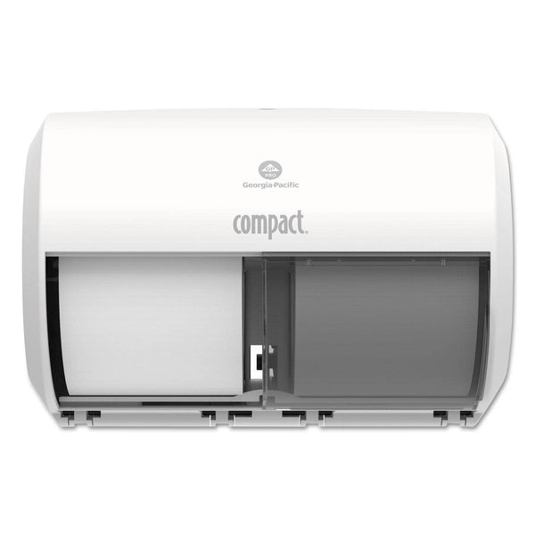 Georgia Pacific Compact Coreless Side-By-Side 2-Roll Tissue Dispenser, 11.31 X 7.69 X 8, White - GPC56797A