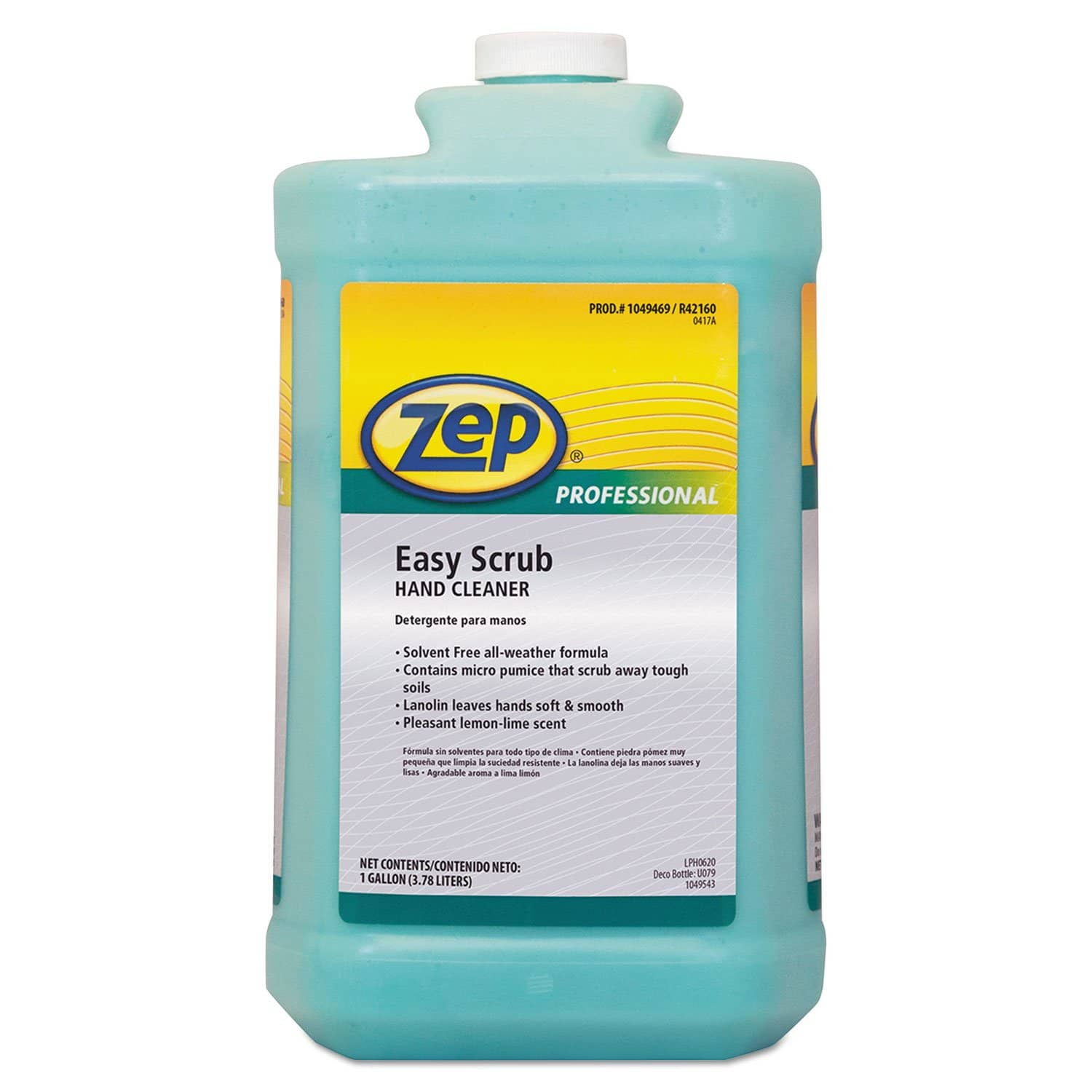 Zep Industrial Hand Cleaner, Easy Scrub, 1 Gal Bottle, 4/Carton - ZPP1049469 - TotalRestroom.com