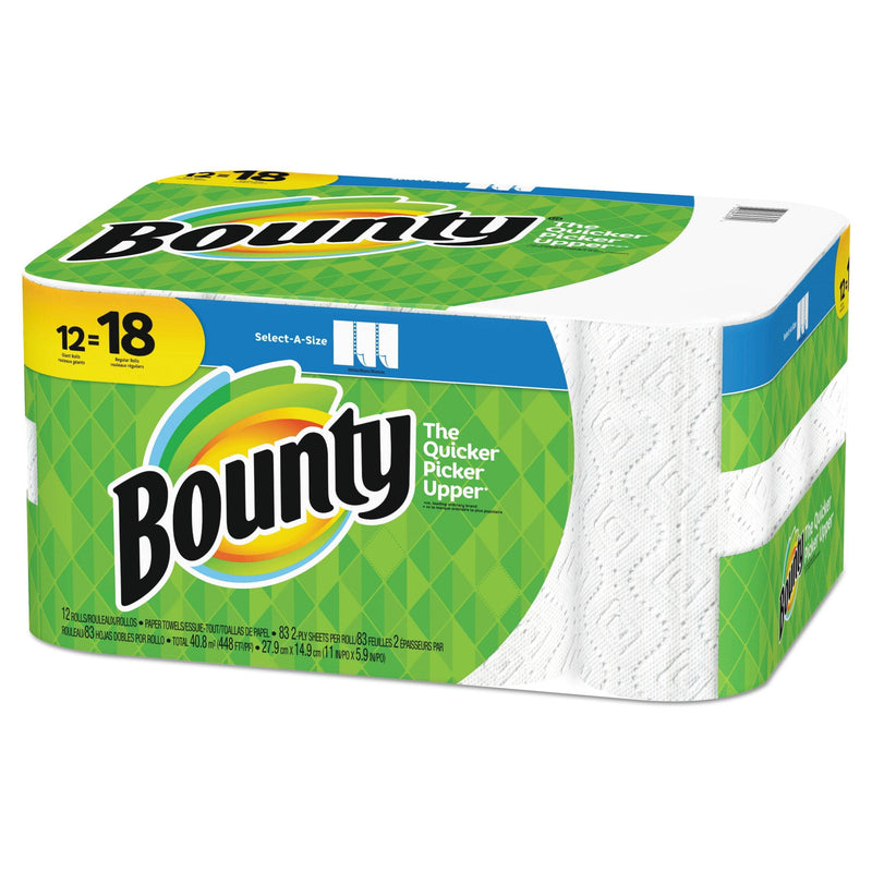 Bounty Select-A-Size Paper Towels, 2-Ply, White, 5.9 X 11, 83 Sheets/Roll, 12 Rolls/Ct - PGC74795 - TotalRestroom.com