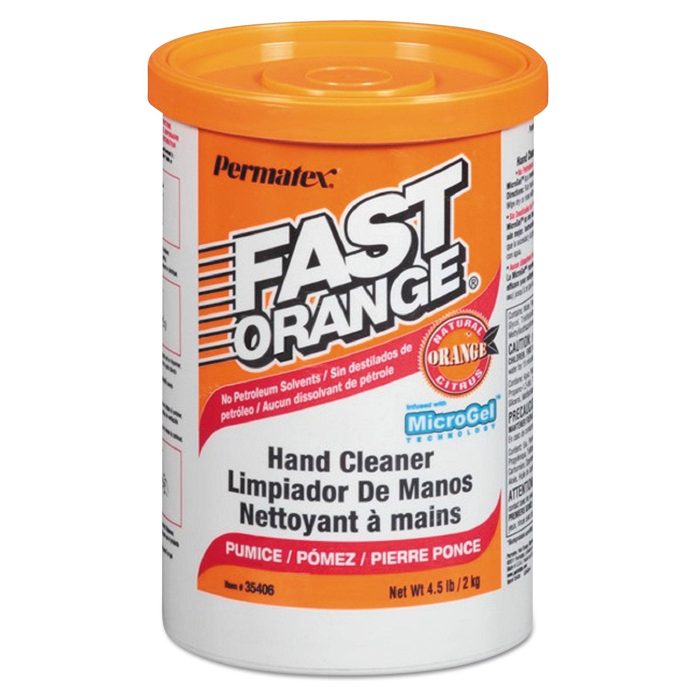 Fast Orange Pumice Hand Cleaner, Orange Scent, 4.5 Lbs Canister, 6/Carton - ITW35406CT - TotalRestroom.com