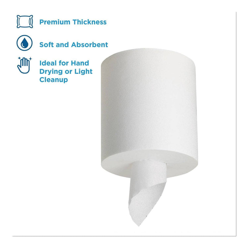 Georgia Pacific Sofpull Center-Pull Perforated Paper Towels,7 4/5X15, White,320/Roll,6 Rolls/Ctn - GPC28124 - TotalRestroom.com