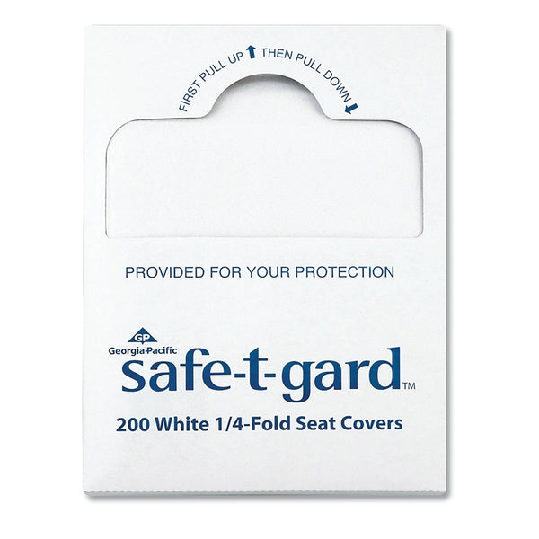 "Georgia Pacific Seat Covers Safe-T-Gard, 17"" X 14.5"" White, 25/Carton - GPC47047"