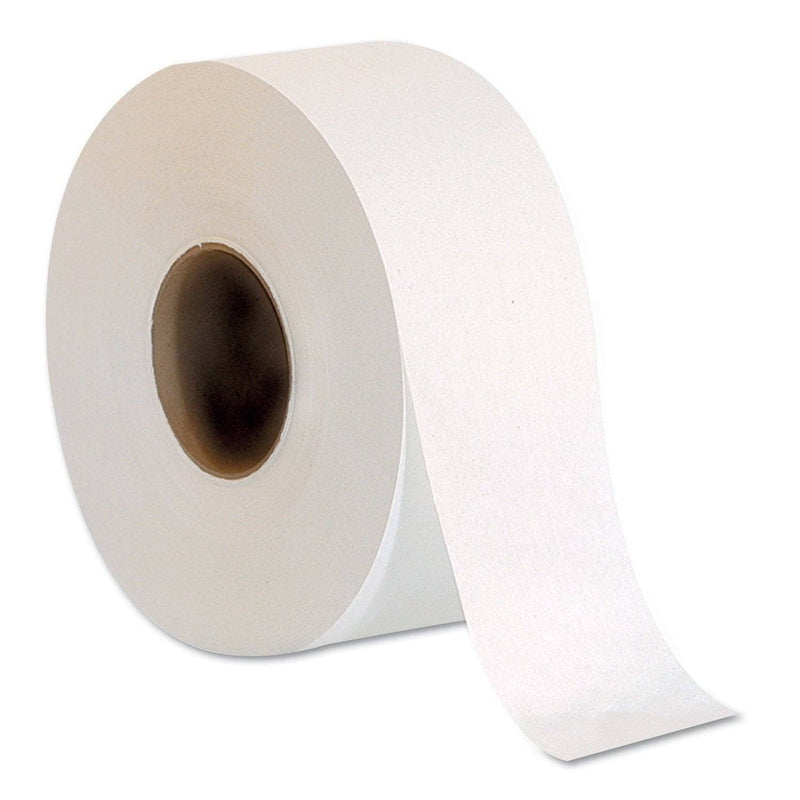 Georgia Pacific Jumbo Jr. One-Ply Bath Tissue Roll, Septic Safe, White, 2000 Ft, 8 Rolls/Carton - GPC13718 - TotalRestroom.com