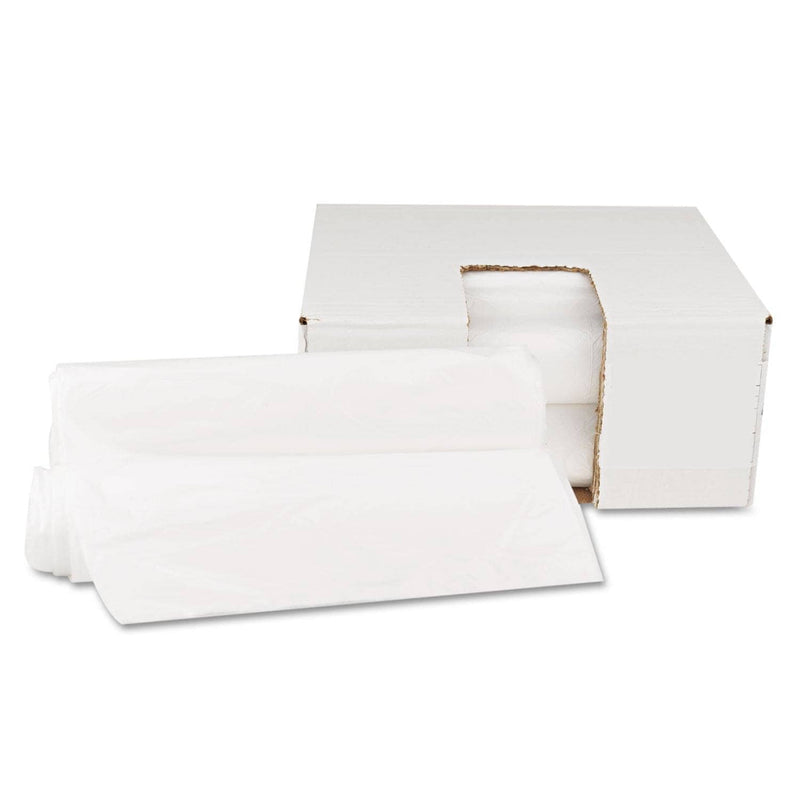 "GEN High Density Can Liners, 10 Gal, 6 Microns, 24"" X 23"", Natural, 1,000/Carton - GEN242306 - TotalRestroom.com"