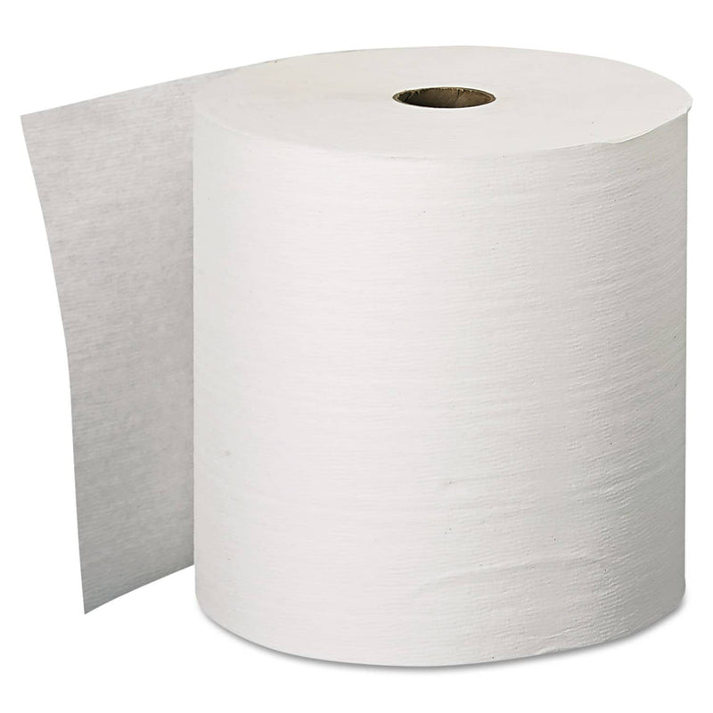 "Scott Essential Plus Hard Roll Towels, 1.5"" Core, 8"" X 600 Ft, White, 6 Rolls/Carton - KCC11090 - TotalRestroom.com"