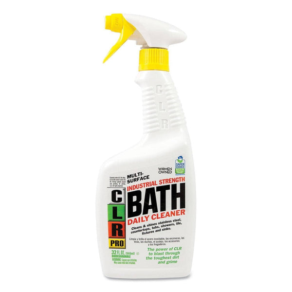CLR PRO Bath Daily Cleaner, Light Lavender Scent, 32Oz Pump Spray, 6/Carton - JELBATH32PRO