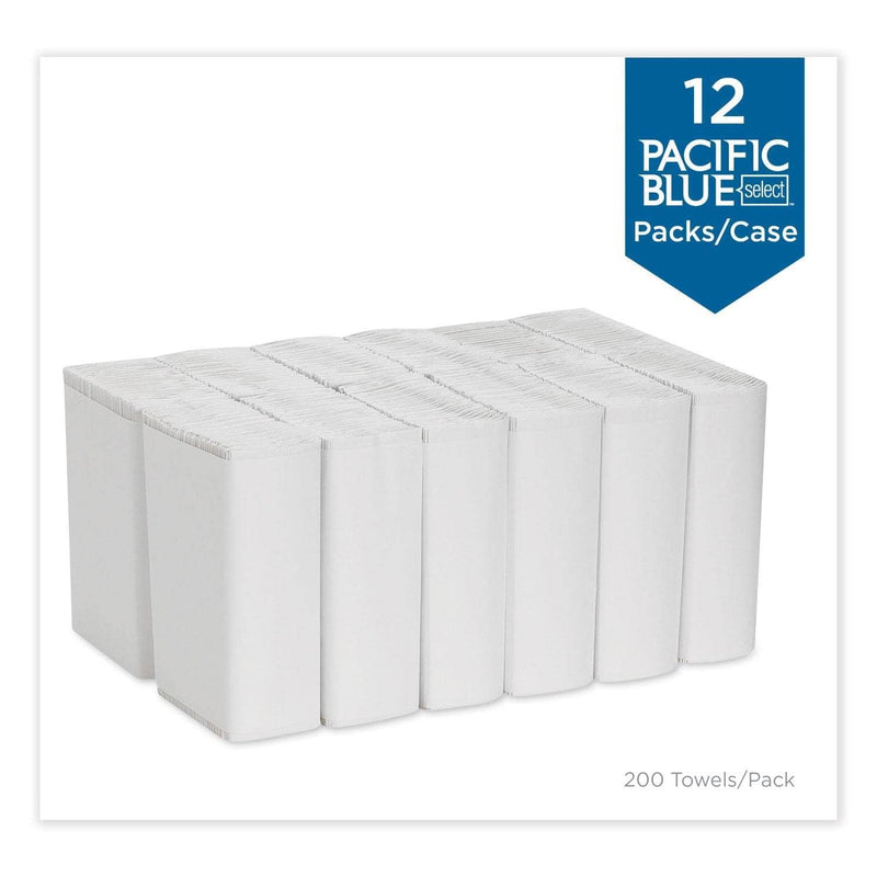 Georgia Pacific Pacific Blue Select C-Fold Paper Towel, 10 1/10 X 13 2/5,White,200/Pk, 12 Pk/Ct - GPC20241 - TotalRestroom.com