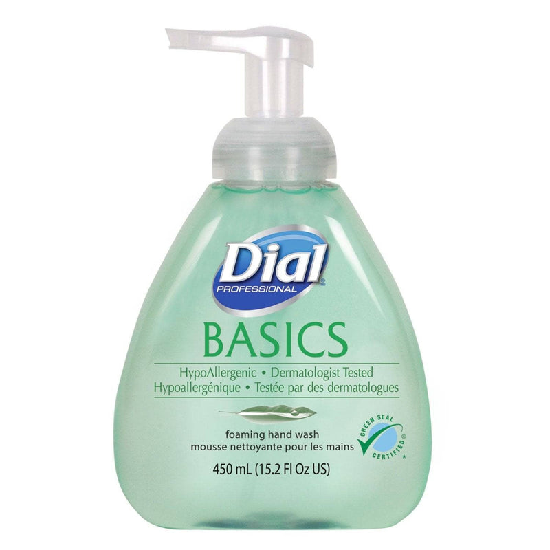 Dial Basics Foaming Hand Soap, Original, Honeysuckle, 15.2 Oz Pump Bottle, 4/Carton - DIA98609 - TotalRestroom.com