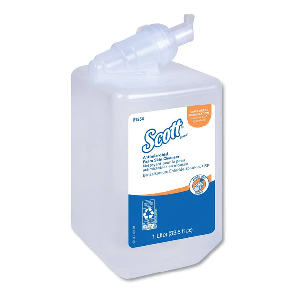 Scott Control Antimicrobial Foam Skin Cleanser, Fresh Scent, 1000 Ml Bottle - KCC91554